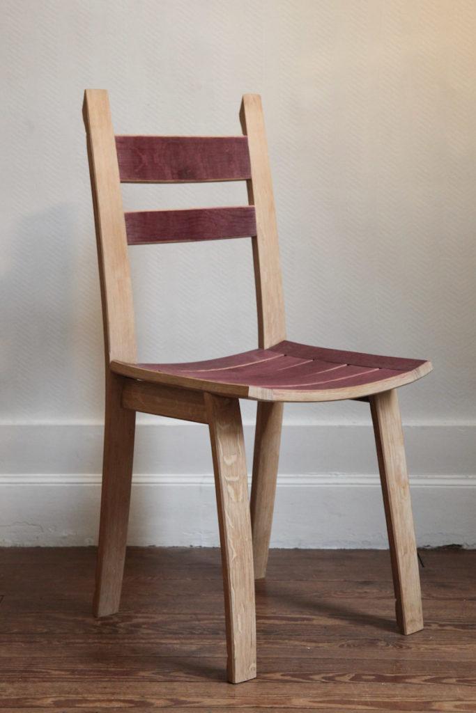 chaise douelle tonneau